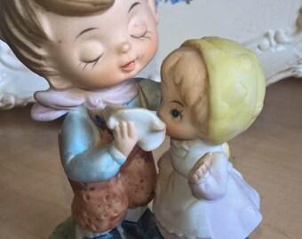 Porcelain Figurine Big Brother Little Sister Nursery Decor Artmark Mothers Day