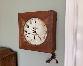 1925 Telechron Industrial Wall Clock 16 Inch Model 201