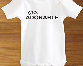 Mr. Adorable Baby Bodysuit or Toddler Shirt