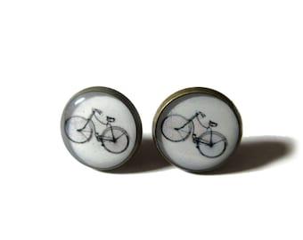 BICYCLE EARRINGS - Cyclist earrings - bicycle stud earrings -  Bike stud earrings - Bicycle Jewellery - Cyclist Gift - Sports Earrings