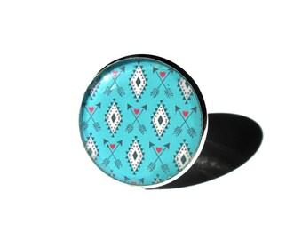 TURQUOISE RING - Turquoise Jewelry - Bohemian Pattern - BOHO Ring - Geometric ring - Ethnic Jewelry - Turquoise diamonds