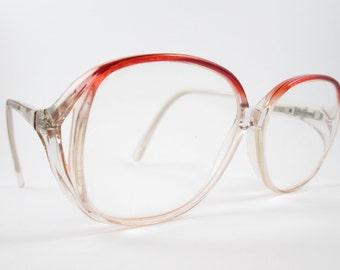 Modern Kitty Amethyst Vintage 1980s Oversized Frames Glasses 53/14/130