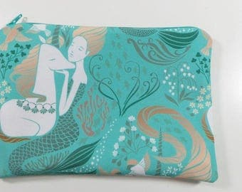 Mermaids and Unicorns CANVAS Zipper Pouch