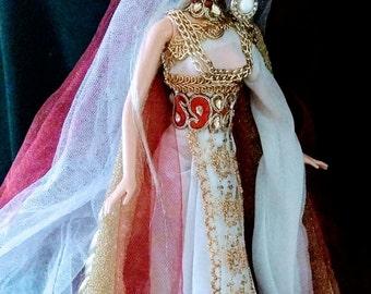 Helen of Troy Greek Goddess Beauty OOAK Barbie doll dakotas song Mythology