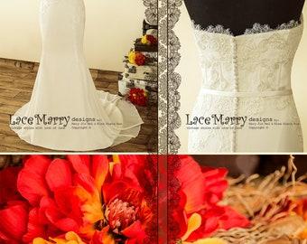 Bohemian Luxury Wedding Dress with Embroidered Sweetheart Bodice | Boho Wedding Dress, Strapless Beach Wedding Dress, Light Wedding Dress