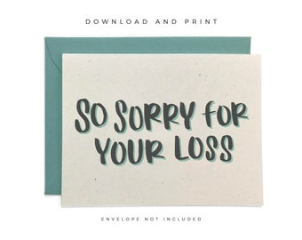 Inventive image for sorry for your loss printable cards