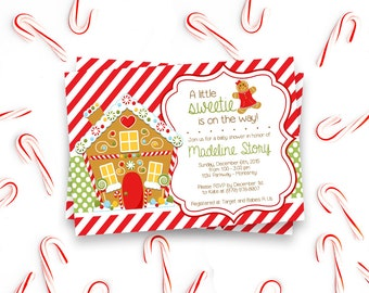 Little Sweetie - Gingerbread - Baby Shower Invitation