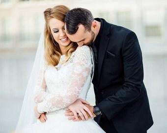 White Bridal lace bolero Off-Shoulder /wedding jacket/ shrug/  jacket /bridal lace top