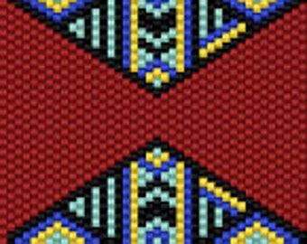 Patterned Diamond Seed Bead Peyote Cuff Beaded Bracelet Pattern