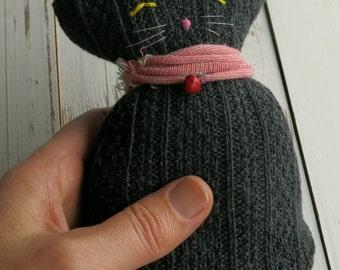 cuddly toy - kitty - plushy animal - animal toy- softie- sock cat- softie animal- soft toy- small children- plush- softie - softie kitten-uk