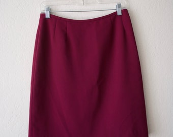 Vintage Plum Pencil Skirt // Women's Size 8