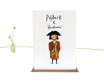 Poldark illustrated Cornish Greetings Card