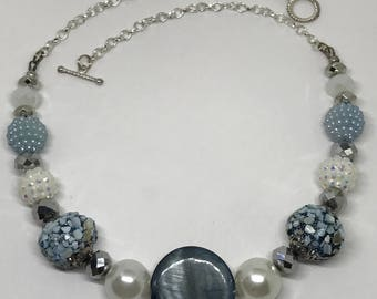 Seaside Dreams Beautifully Blue Shell Necklace