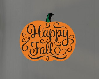 Happy Fall Pumpkin Wall Sticker