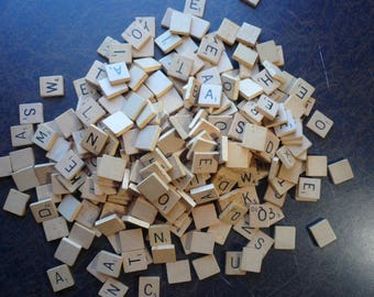 300 Wooden Scrabble Tiles Great for Games or Crafts