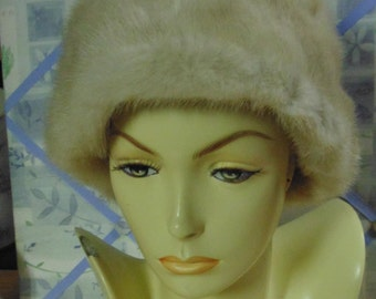 Vintage Light Mink Hat, Lord & Taylor, size 22 Beautiful
