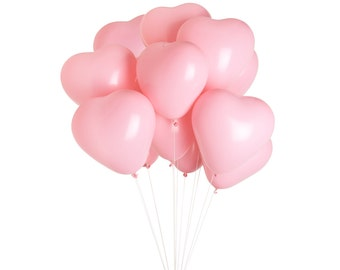 Pink Heart Balloons, Valentine's Day Props, Engagement Balloons, Valentine's Day Photoshoot Props