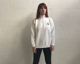 White Cotton Knit Ralph Lauren Pullover Sweater · Ralph Lauren Knit Sweater · Ralph Lauren Sweater · Ralph Lauren Women · Ralph Lauren · M