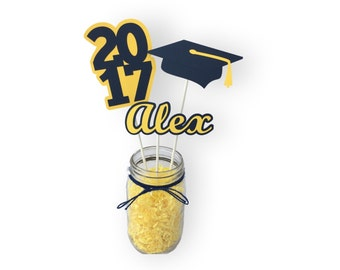 Personalized Graduation Centerpiece Set - Grad Party Decor - Graduation Party Decorations - Graduation Centerpiece Sticks