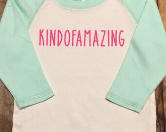 Kindofamazing cool tshirt for babies, tee for amazing kids.
