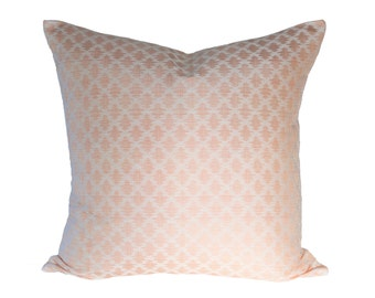 Scalamandre Sami Ikat Shrimp Strie designer pillow cover - Made to Order - Choose Your Size