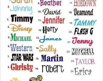 Vinyl Name Decal, Custom Vinyl Name Decal, Word Stickers, Vinyl Name Stickers, Name Decal, Name Wall Decal. Nursery Wall Decor