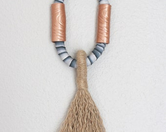 Sale! Tassel Wall Hanging, silk tassel, string art, unique tassel, modern tassel