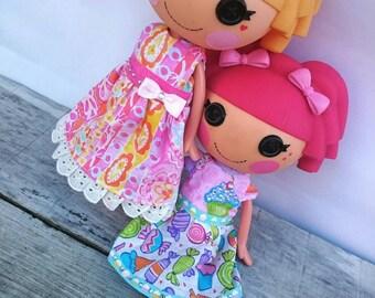 Cute Handmade Dress for LalaLoopsy ~ Fits Large LalaLoopsy Dolls~ Pretty Dress~Jewel Cupcake Dress