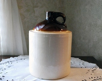 Whiskey/Moonshine Stoneware Crock Gallon Shoulder Jug