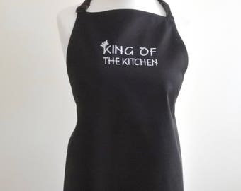King Of The Kitchen Embroidered Apron