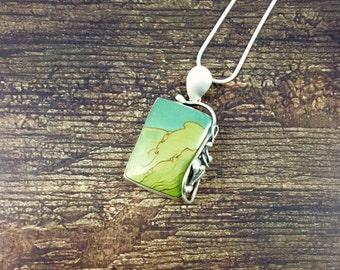 Leaf & Vine Wild Horse Canyon Jasper Pendant // Jasper Jewelry // Sterling Silver // Village Silversmith
