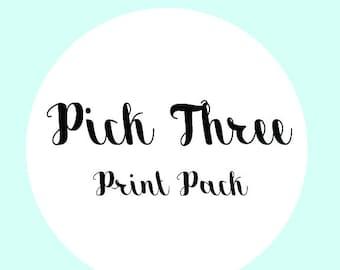 PICK 3 PRINT PACK