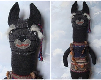 Peruvian LLAMA Plush, Handmade Llama, Llama TOY Plush, Stuffed Toy,  Llama Pillow, UPCYCLED Wool Llama, Sweet Alpaca Plush, Stuffed Animal