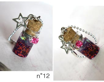 Vial necklace purple/pink for dolls Pullip, Blythe, Yeolume, Dal, Monster High, Barbie and BJD: Yosd, MSD
