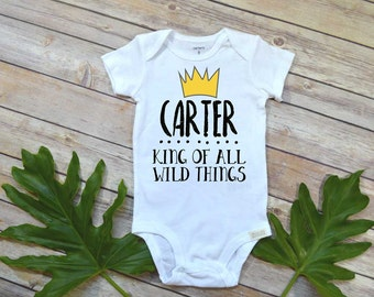 Where the Wild Things Are, Personalized Birthday Shirt, King of all Wild Things, Wild things Party, Wild Things shirt, Custom Wild Things