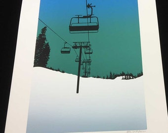 Early Up, Screen Print, Limited Edition - by Kiss a Cow