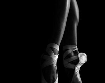 Ballerina Project V, Black and White Prints, Pointe Shoe Photography, Fine Art, Ballet Photography, Dancers, Ballerina, Nursery, Girls Decor
