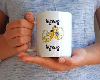 Cat Mug Bisous Bisous French Design - Friendship Mug