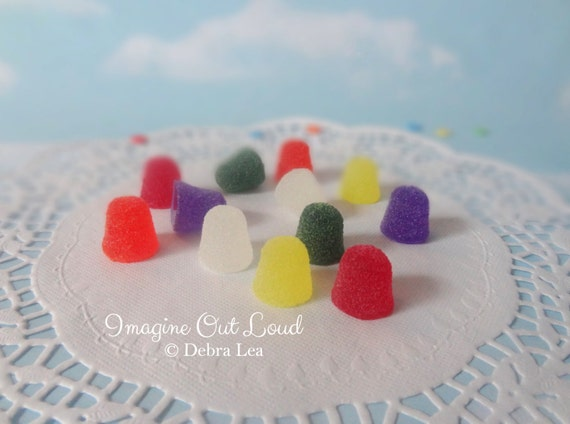 Fake Candy Faux Spice Drops Christmas Holiday Sweets Rainbow Display Food Prop Decor