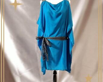 Plus Size 1920's Style Flapper Dress ~Blue Evening Dress