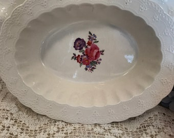 "Antique  Copeland Spode Jewel 9 inch Oval Serving Bowl- ""Claudia""- HTF"