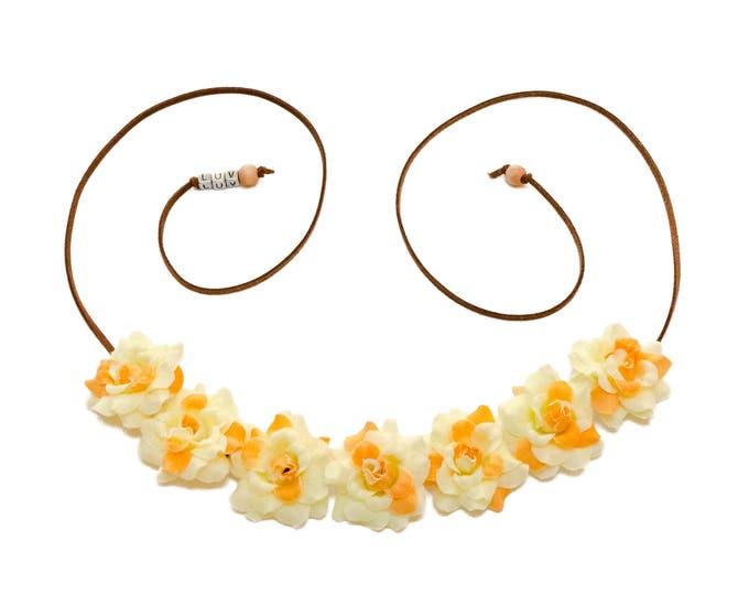 Cream Yellow Rose Flower Crown