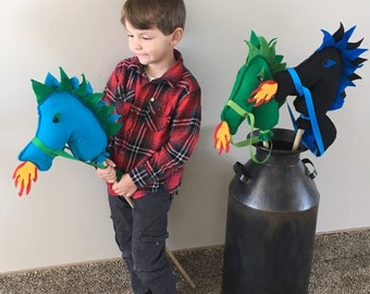 Dragon Birthday Party Favor,Dragon Stick Horse Set Ready to Stuff and Add Dowel