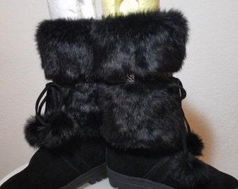 FREE  SHIPPING   Rabbit Fur Boots
