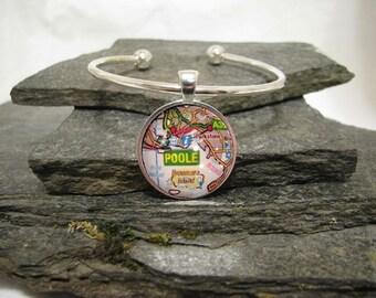 Map Charm Bracelet, Custom Map Bracelet, personalized bracelet