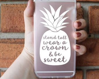Be A Pineapple Phone Case   Pineapple Phone Case   iPhone Case   Galaxy Case   Southern Sweetheart Gifts