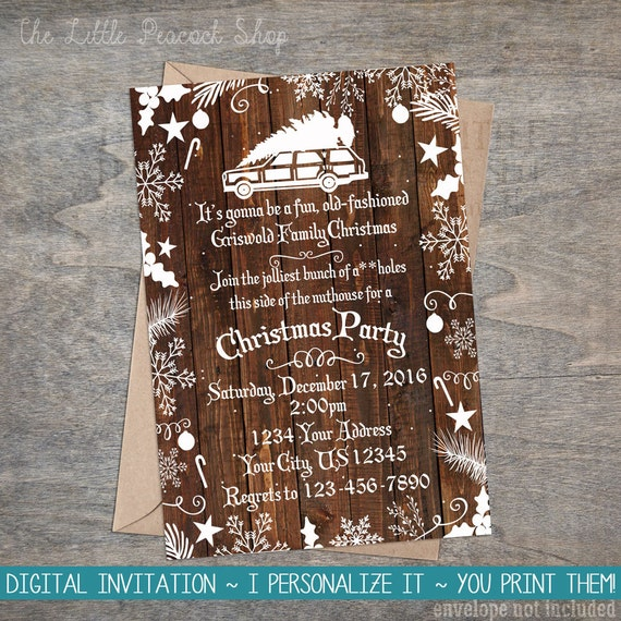 Christmas vacation invitation griswold christmas party like this item stopboris Image collections