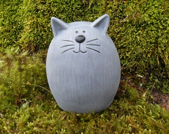 Cat Statue,Kitty Statue,Chubby Cat Statue, Fat Cat Statue,Abstract Cat Statue,Garden Cat Statue,Garden Sculpture Concrete
