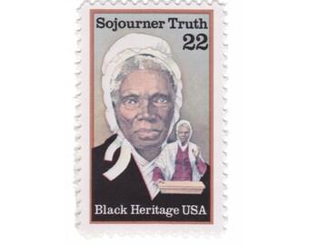 10 Unused Vintage US Postage Stamps - 1986 22c Sojourner Truth - Item No. 2203