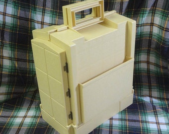 Gold Plastic Folding Sewing Box